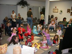 Children at a Halloween Storytime